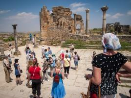 Volubilis Ausgrabungsstätte Marokko