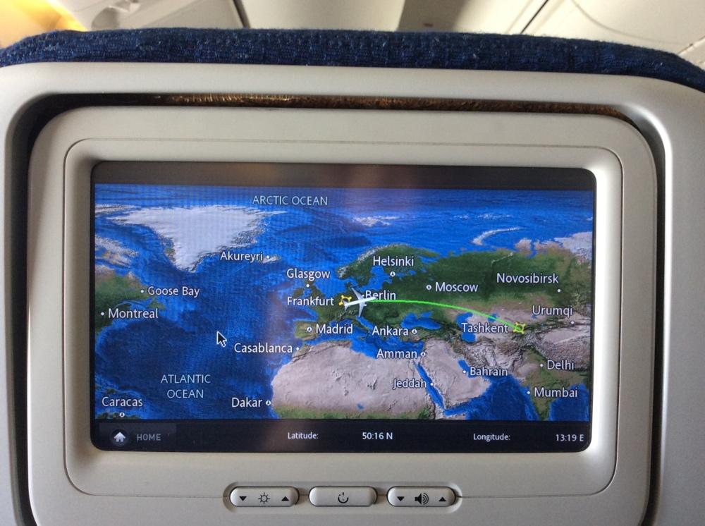 Flug nach Tashkent