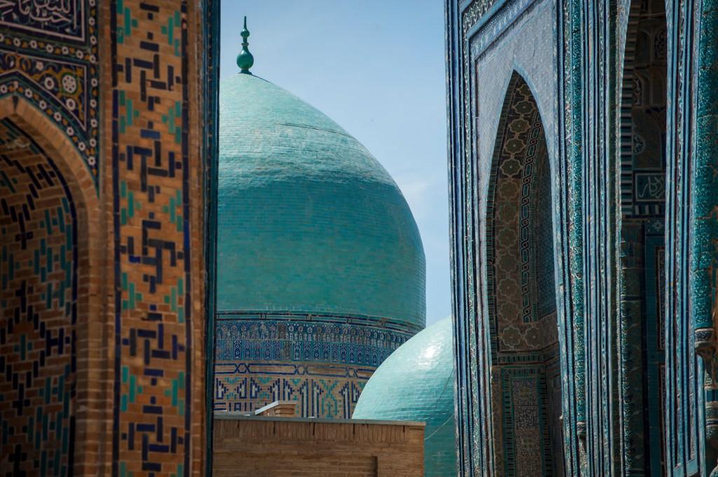 Kuppeln des Shohizinda-Ensemble in Samarkand