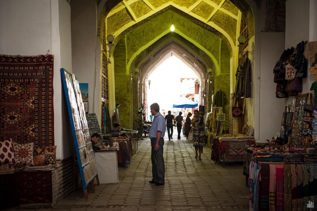 Kuppelbasare in Bukhara