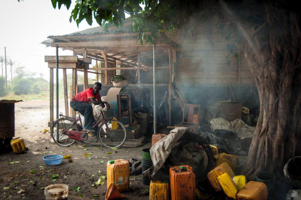 Traditionelle Herstellung Palmöl