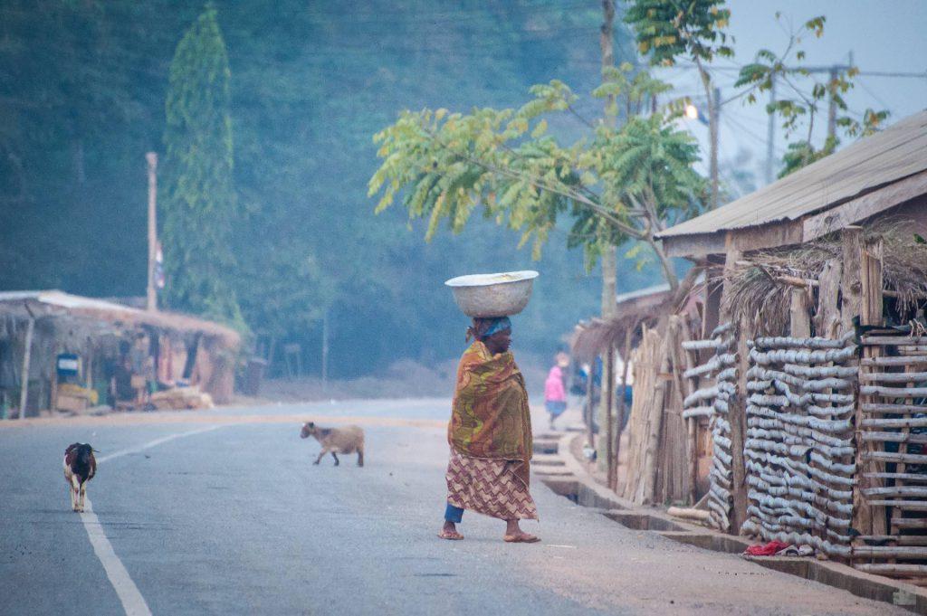Dorfleben in Tafi Atome